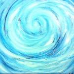 Blue swirl