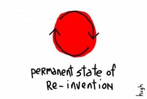 premanent state of reinvention